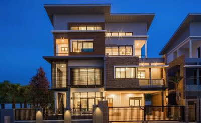 ภาพหน้าอาคาร โฮมออฟฟิศ บ้านแบบ Ace ทั้ง 4 ชั้น | The Shelter
