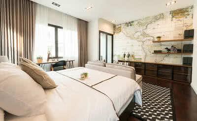 ตัวอย่าง ห้องนอนบ้านเดี่ยว/ โฮมออฟฟิศ แบบ Bliss โครงการ เดอะเชลเตอร์ | The Shelter
